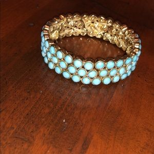 Turquoise beaded bangle from beach boutique